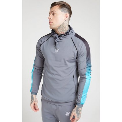 siksilk scope overhead fade panel hoodie slate p4466 41486 medium
