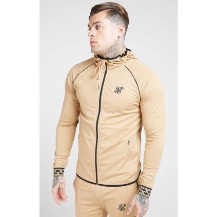 siksilk scope zip through hoodie beige p4520 42166 medium
