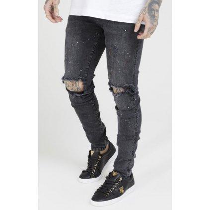siksilk bust knee riot denims washed black p4020 39141 medium