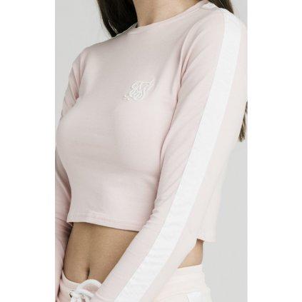siksilk long sleeve crop top cloud pink p4427 40995 medium