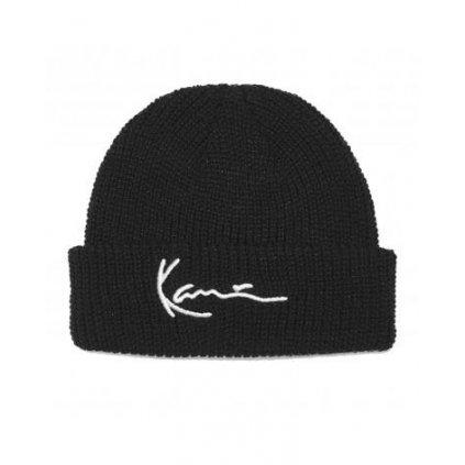 karl kani cappello con risvolto unisex signature fisherman beanie nero kkmaccq32004blk 480x