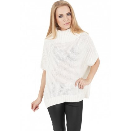 urban classics ladies knitted poncho offwhite 28608