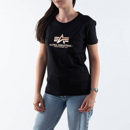 alpha industries new basic tee wmn foil print 91927