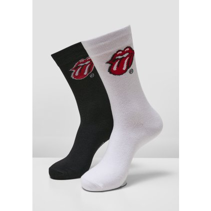Ponožky MERCHCODE Rolling Stones Tongue Socks 2-Pack