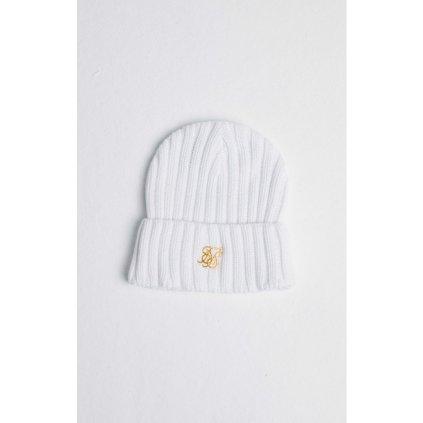 siksilk rib cuff knit beanie white gold p6035 60363 medium