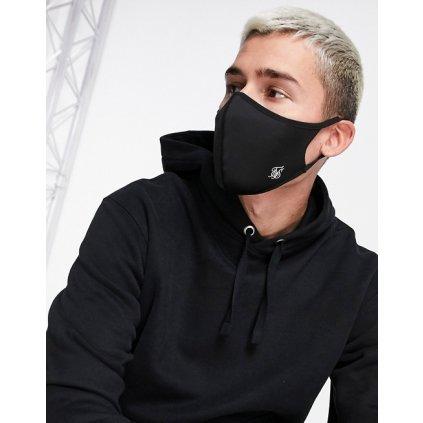 siksilk face covering black pack of 3 p5566 55989 medium