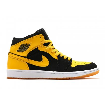 air jordan 1 mid new love black yellow retro 554724 035 2