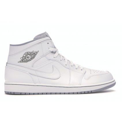 Pánske tenisky Air Jordan 1 Mid White White Grey