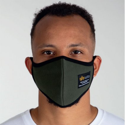 alpha industries heavy crew face mask olive 94499