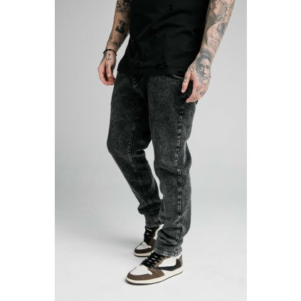 Pánske rifle SikSilk Raw Loose Fit Denims