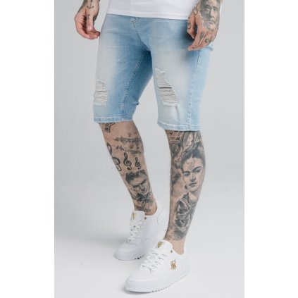 Pánske kraťasy SikSilk Distressed Denim Shorts