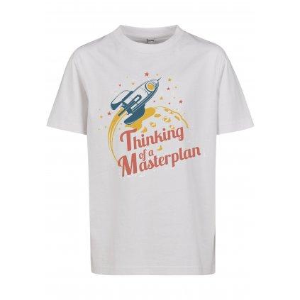 Detské tričko MR.TEE Kids Thinking Of A Masterplan