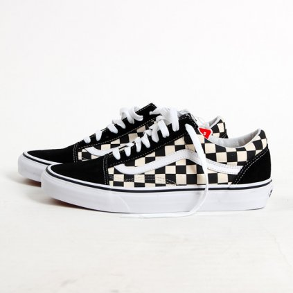 vans ua old skool primary check black 61128