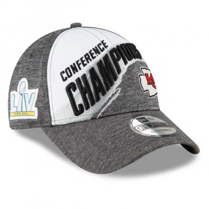 Šiltovka New Era Kansas City Chiefs White/Gray 2020 NFC Champions Locker Room