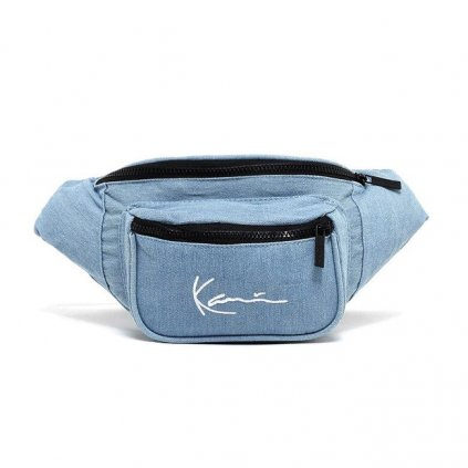 karl kani signature tape waist bag light blue 94708