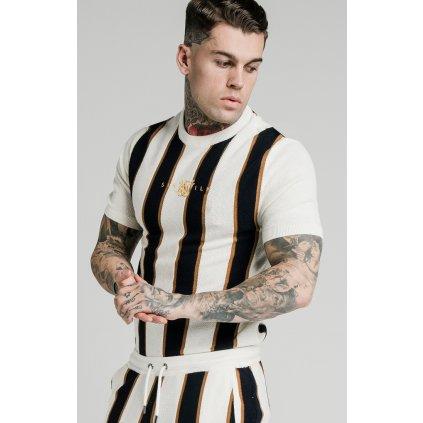 Pánske tričko SikSilk Fitted Knit Tee