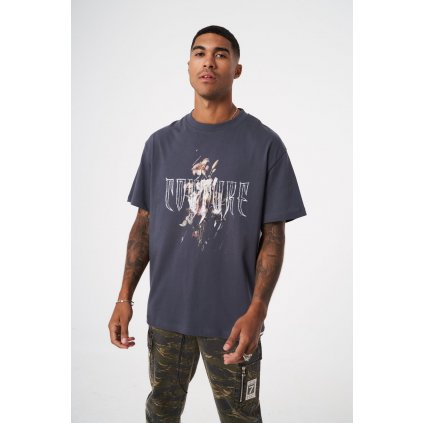 Pánske tričko THE COUTURE CLUB Floral Graphic Relaxed Fit navy