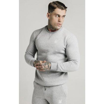 siksilk crew sweat grey marl p3768 32553 medium
