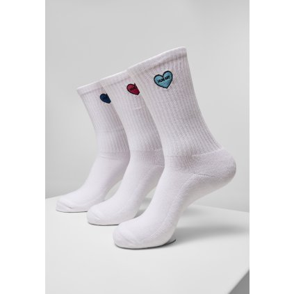 Ponožky MR.TEE Heart Embroidery Socks 3-Pack