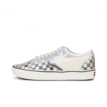 vans ua comfycush slip skool checkerboard black vn0a4p3e5gx1 1