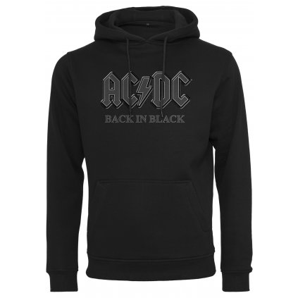 Pánska mikina MERCHCODE ACDC Back In Black Hoody