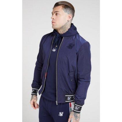 siksilk nylon bomber jacket navy p4626 43094 medium