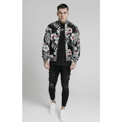 siksilk floral velour bomber jacket black p5215 50511 medium