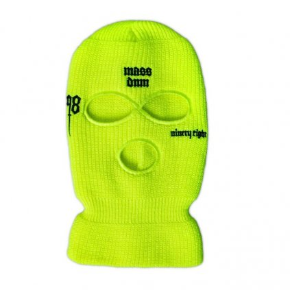 mass denim balaclava snatch toxic yellow 101443