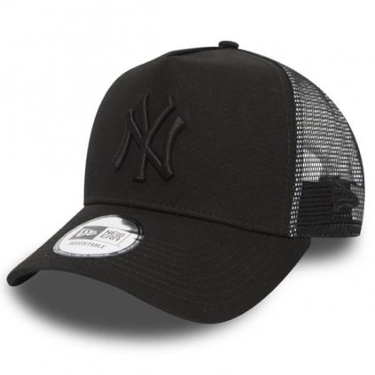 Šiltovka New Era 9Forty Trucker Clean NY Yankees Black On Black
