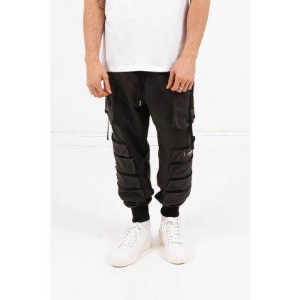 Pánske čierne nohavice Sixth June Pocket Pants