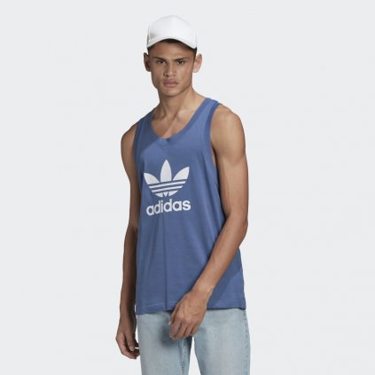 Trefoil Tank Top Blue GN3492 21 model