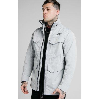Pánska bunda SikSilk Leightweight Zip Jacket grey