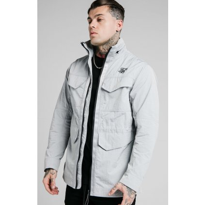 Pánska bunda SikSilk Leightweight Zip Jacket grey