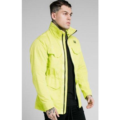 Pánska bunda SikSilk Leightweight Zip Jacket fluro green