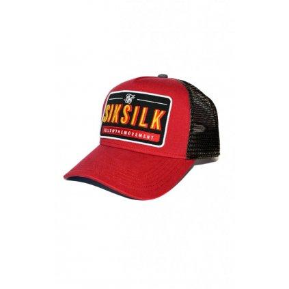 siksilk washed cotton mesh trucker red p4536 42260 medium