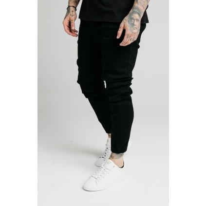 Pánske nohavice SikSilk Elasticated Cuff Pleated Denim