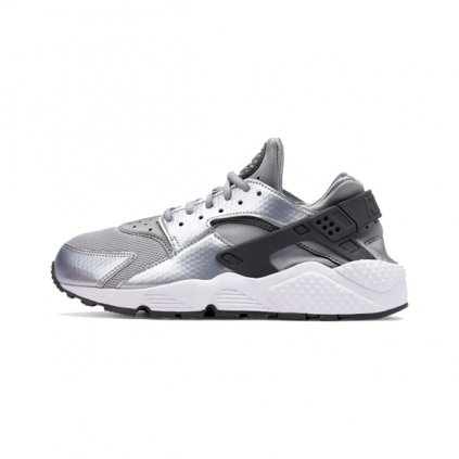 nike wmns air huarache run shoe wof grey white 634835 014 33430 (1)