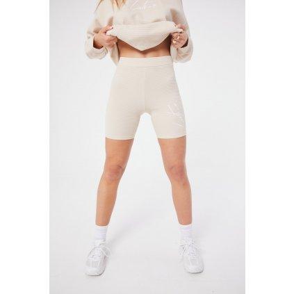 Dámske kraťasy The Couture Club Textured Essentials beige