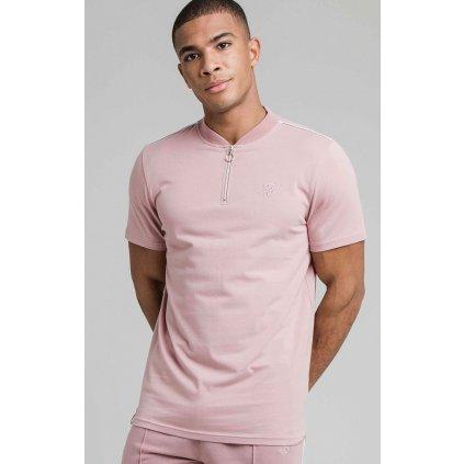 Pánske ružové tričko Smart Esentials Baseball