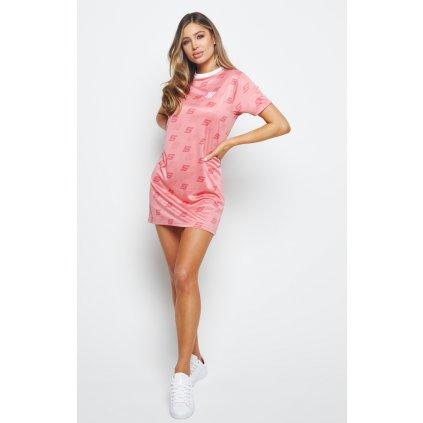 Dámske šaty SikSilk Shadow Roma Pink