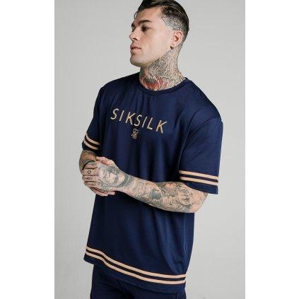 Pánske modré tričko SikSilk S/S Essential