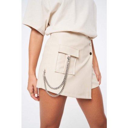Dámska sukňa Leather Look Utility