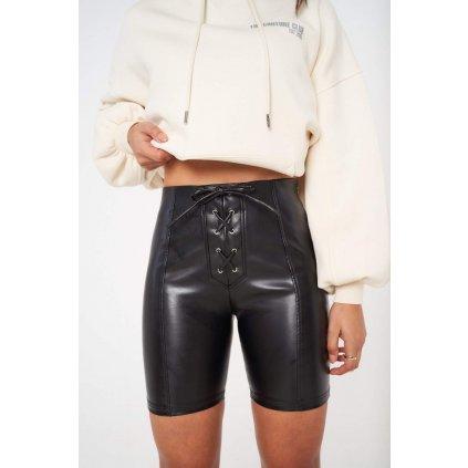 Dámske kraťasy Lace Front Leather