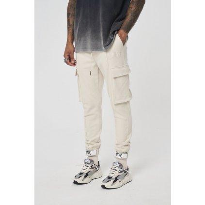 Pánske cargo nohavice Premium Textured béžové