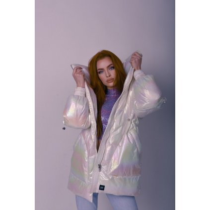 Dámska zimná bunda Sixth June Oversized Pearly