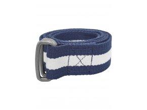 Pánsky opasok Urban Classics Stripe Belt modro-biely