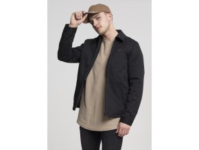 Pánska prechodná bunda URBAN CLASSICS Shirt Jacket čierna (Veľkosť XXL)