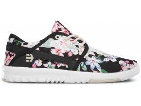 Topánky Etnies Scout W´S black-floral (Veľkosť 39)