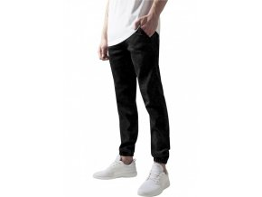 urban classics stretch denim jogging pants black washed 28688