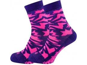 HORSEFEATHERS VERSUS SOCKS violet Ponožky nachová ·zaujmou netradičním vzorem 90388220 Dámské oblečení
